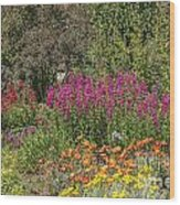 English Garden In Summertime Wood Print