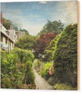 English Garden Wood Print