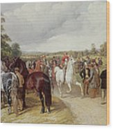 English Horse Fair On Southborough Common Wood Print by John Frederick Herring Snr