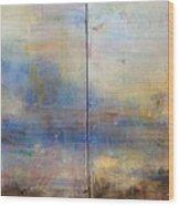 English Landscape 80 X 120 Diptych Wood Print