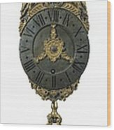 English Lantern Clock 18th C.. Baroque Wood Print