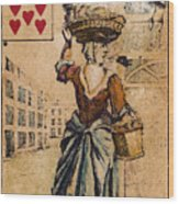 English Playing Card, C1754 Wood Print