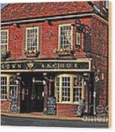 English Pub Wood Print