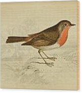 English Robin Wood Print by Philip Ralley