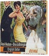 English Setter Art Canvas Print - Come September Movie Poster Wood Print