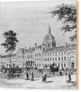 Engraving Of Salpetriere Hospital Wood Print