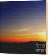 Enhanced Sunset Wood Print by Jayson Banner