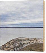 Enid Lake - Winter Landscape Wood Print