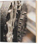 Enigma Wheel Wood Print