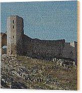 Enisala Fortress Canvas Wood Print