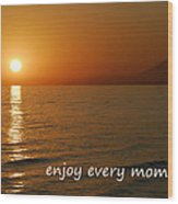 Enjoy Every Moment... Wood Print