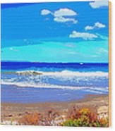 Enjoy The Blue Sea Wood Print