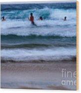 enjoy the ocean I Wood Print
