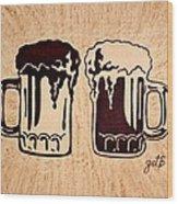 Enjoying Beer Wood Print