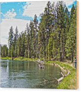 Enjoying Des Chutes River In Des Chutes Nf-or Wood Print