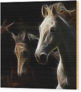 Enlightened Equestrian Wood Print