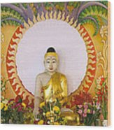 Enlightened Buddha Sitting Under The Bodhi Tree Wood Print