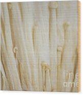 Enoki Mushroom Wood Print