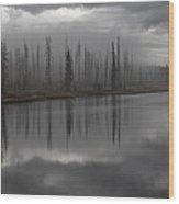 Enshrouded By Fog Wood Print