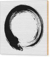 Enso – Circular Brush Stroke Japanese Wood Print
