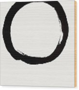 Enso Circle With Mushin Calligraphy  Wood Print