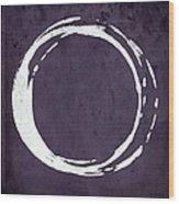 Enso No. 107 Purple Wood Print