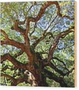 Entangled Beauty Wood Print by Karen Wiles