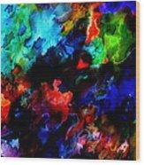 Entangled Colour Wood Print