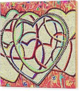 Entangled Hearts Wood Print