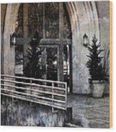 Enter Here -- Filtered Version Wood Print