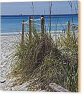 Enter The Beach Wood Print by Susan Leggett