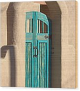 Enter Turquoise Wood Print