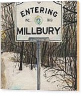 Entering Millbury Wood Print