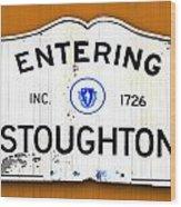Entering Stoughton Wood Print