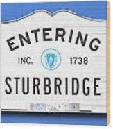 Entering Sturbridge Wood Print