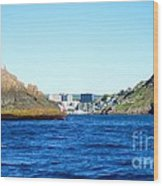 Entering The Narrows Near Fort Amherst Rock By Barbara Griffin Wood Print