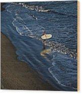 Entering The Ocean. Wood Print