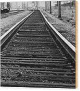 Entering The Train Yard. Washington Dc Wood Print