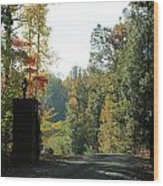 Entering Wine Country Wood Print