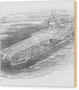 Enterprise Aircraft Carrier Wood Print