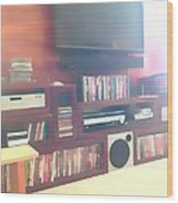 Entertainment Center Wood Print