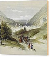 Entrance And Exit To Nablus Shechem Wood Print