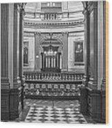 Entrance At Michigan State Capital  Wood Print