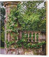 Entrance Pillar Wood Print