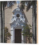 Entrance To Congregational Church Wood Print