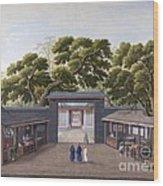 Entrance To Honam Temple, China, 1800s Wood Print