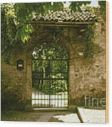 Entrance To Romeo And Juliet House Wood Print