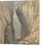 Entrance To The Bolan Pass From Dadur Wood Print