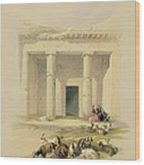 Entrance To The Caves Of Bani Hasan Wood Print