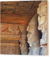Entrance To The Great Temple Of Ramses II Wood Print